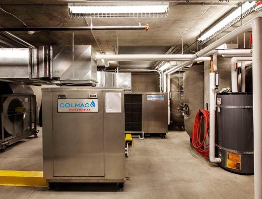 Colmac Heat-Pump Water Heaters in Mechanical Room