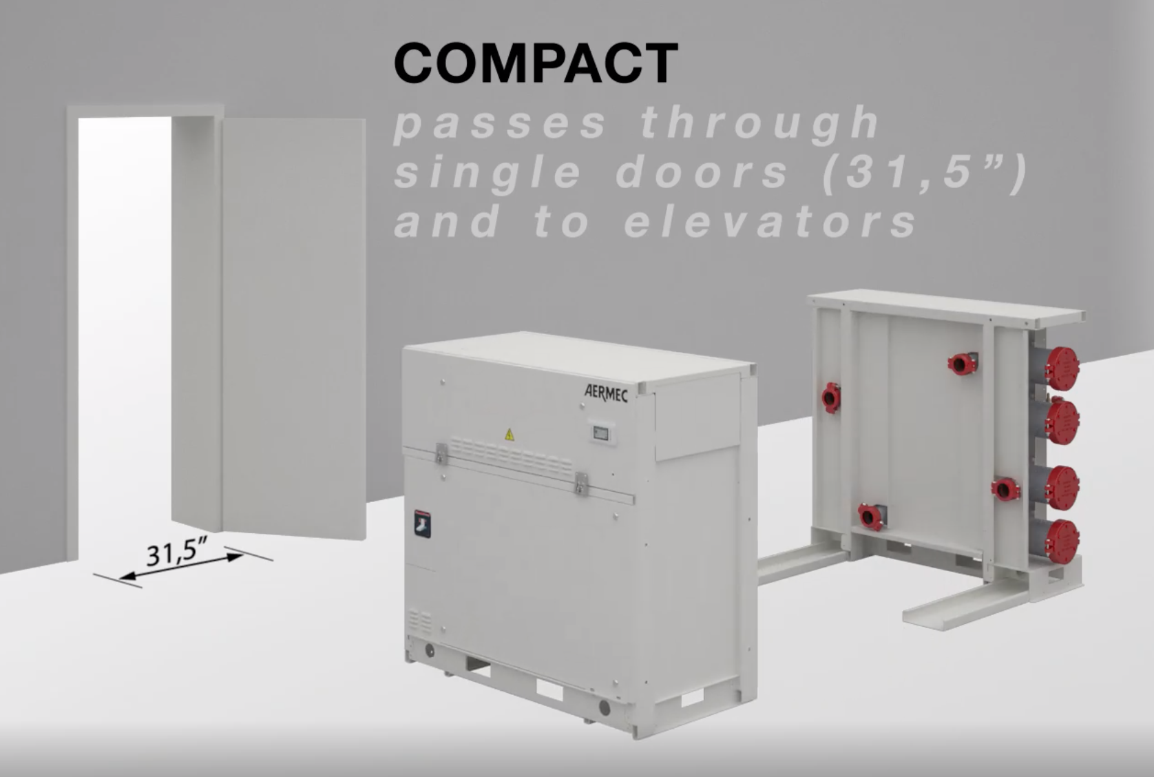 Aermec WWM Modular Chiller - Compact