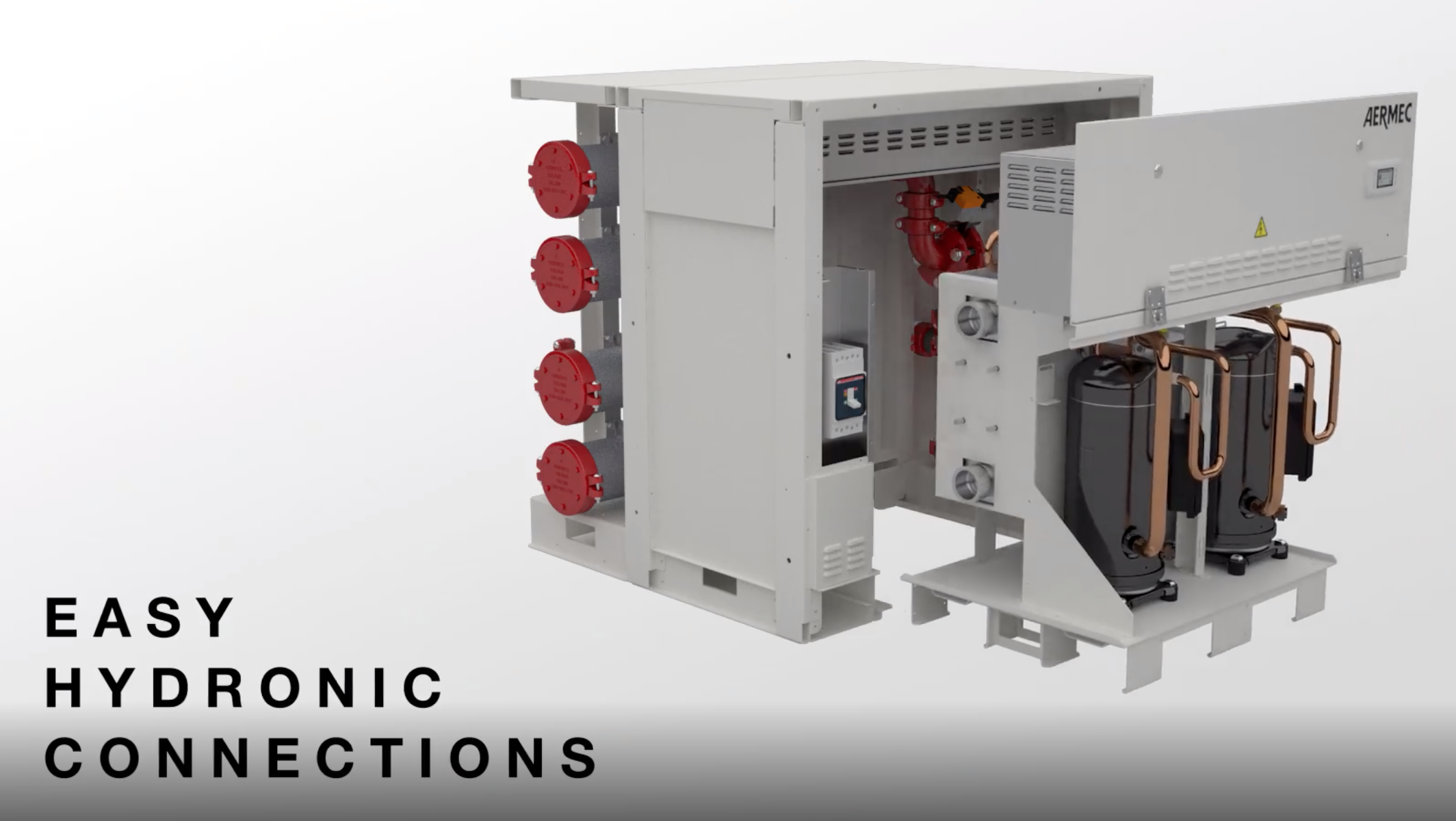 Aermec WWM Modular Chiller - Hydronic Connections