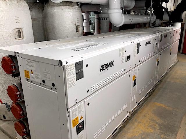 Aermec WWM Modular Chiller Installed in the Space