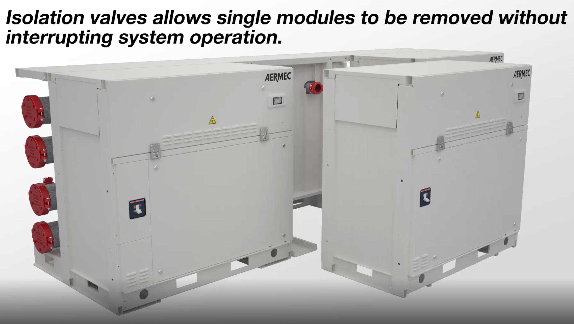 Aermec WWM Modular Chiller - No System Interruption