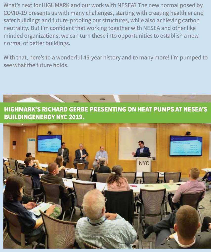 HIGHMARK's Richard Gerbe featured in NESEA's BuildingEnergy Magazine (Winter 2020)