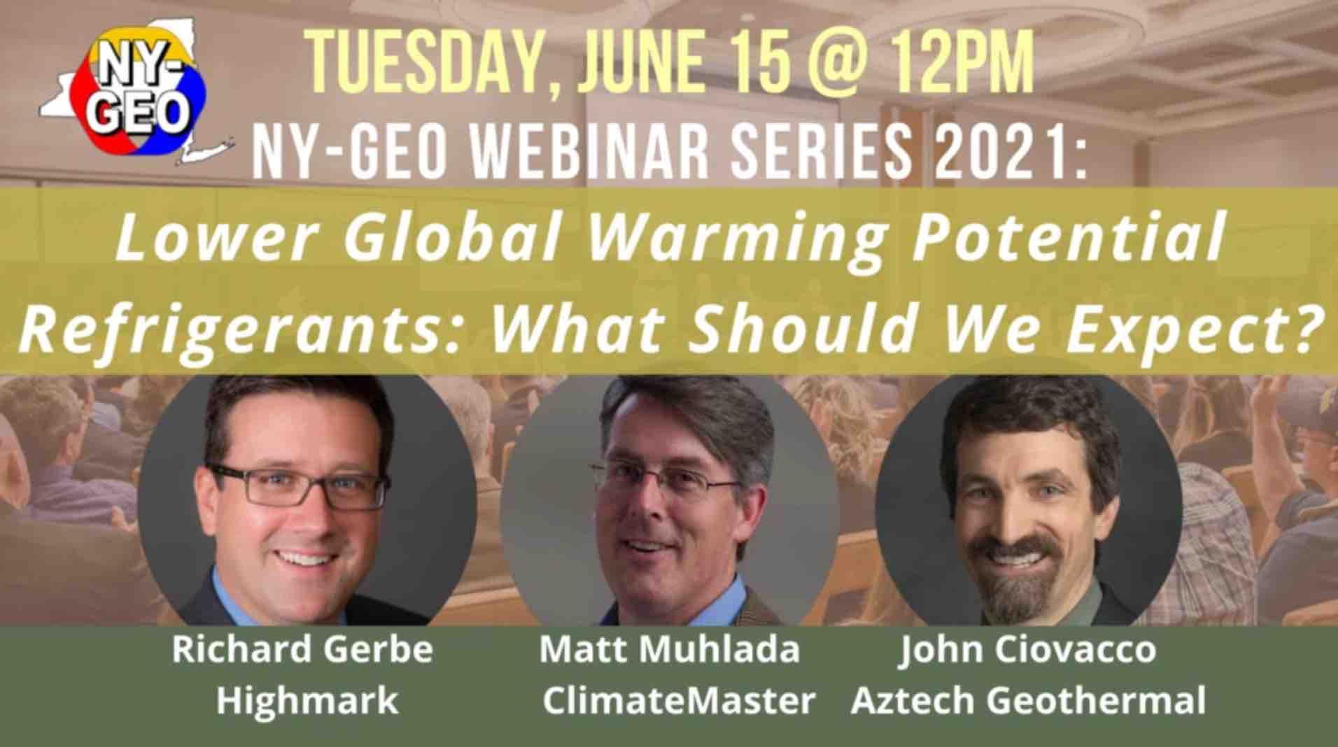 Refrigerants Presentation at NY-GEO 2021