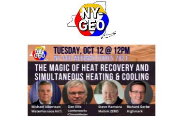 The Magic of Heat Recovery: HIGHMARK's Richard Gerbe Presents at NY-GEO